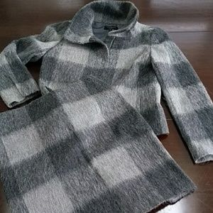 Talbot's Grey Plaid Woman's Skirt Suit Size 4/6